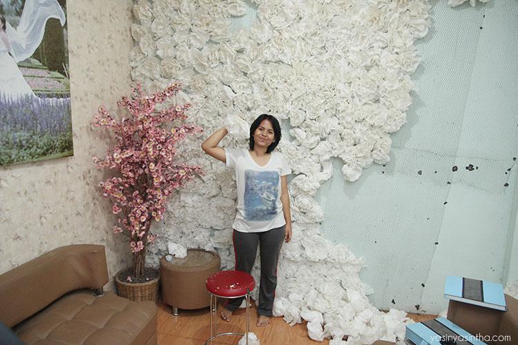 blogger, home decor, bunga kertas