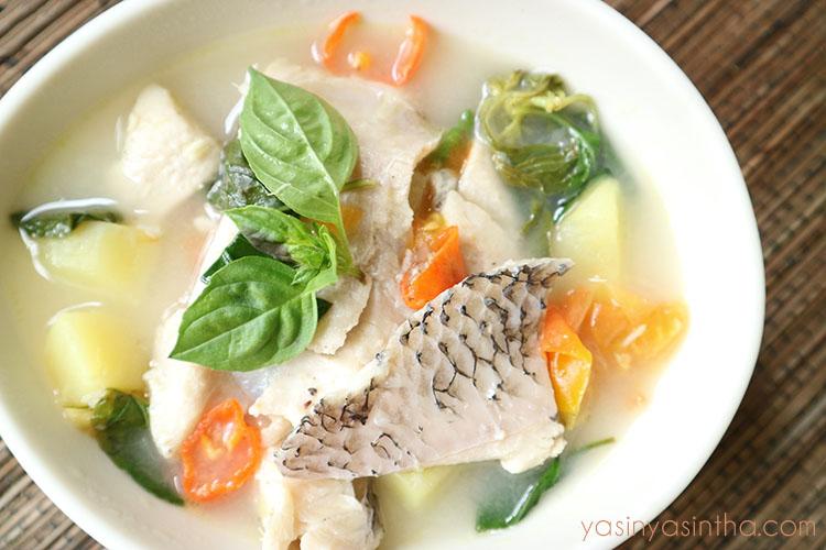 resep ikan gurame, sup ikan gurame, foto makanan