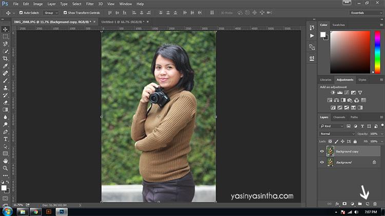 Edit Foto Kurus Tirus Dengan Photoshop Yasinta Astuti