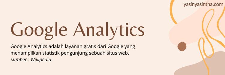 google analytic adalah tools untuk sebuah blog atau website