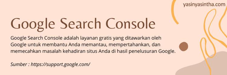 Perlukah mendaftarkan blog kita ke google search console