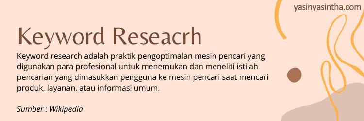 riset keyword untuk blogger