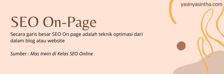 belajar seo on page pemilik website dan blogger