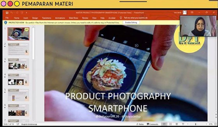 seminar onilne foto produk untuk mahasiswa dan umkm