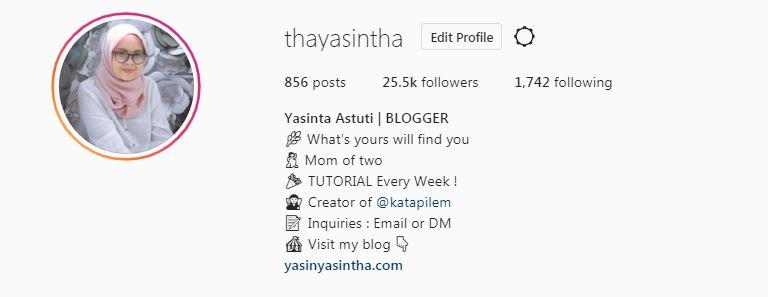 blogger memiliki instagram dan mengoptimasinya