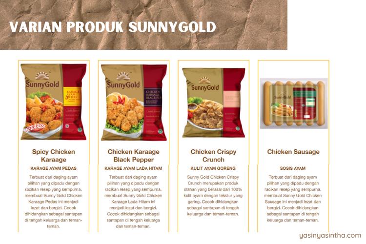 sosis sunnygold memiliki rasa yang enak dan banyak rasanya, tak hanya sosis ayam biasa