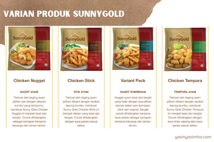 ada beberapa produk sunnygold sebagai pilihan frozen food keluarga