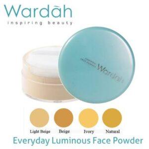 wardah luminous face powder merupakan salah satu bedak yang transparan sehingga hasilnya natural sekali