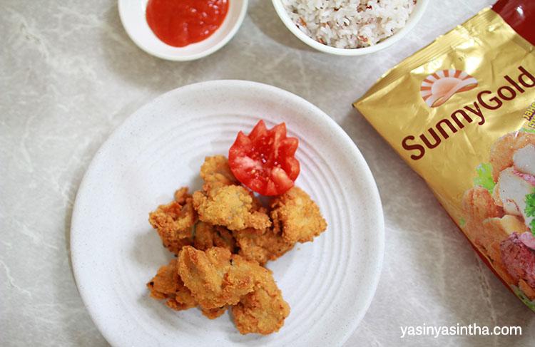karage ayam jahe merah merupakan produk sunny gold yang terbaru dengan rasa yang eksotis