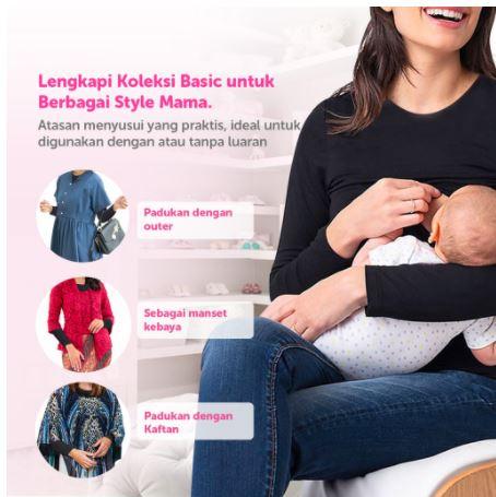 manset ibu menyusui ini nyaman dipakai dan tak kalah trendi