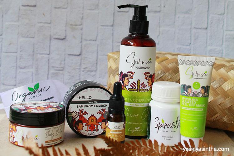 rangkaian produk organic lombok untuk perawatan tubuh
