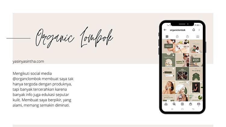 mengikuti sosial media organic lombok untuk mendapatkan informasi seputar kesehatan kulit