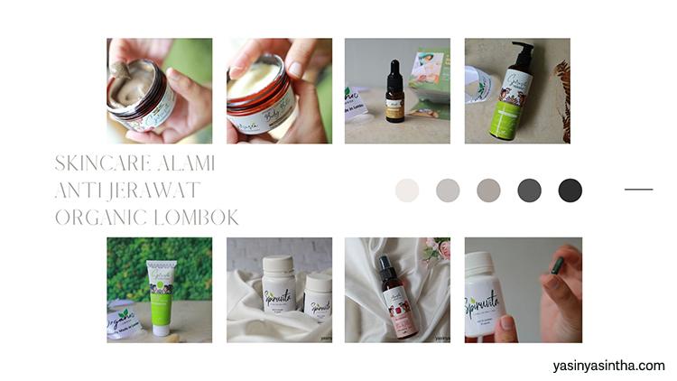 rangkaian produk skincare alami anti jerawat dari organic lombok