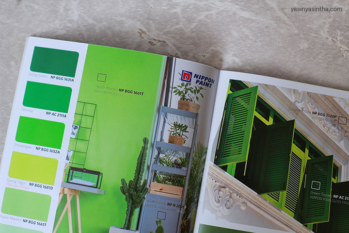 cat hijau bolu pandan dari nippon paint