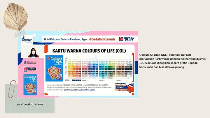 colours of life merupakan panduan warna untuk memilih cat nippon paint