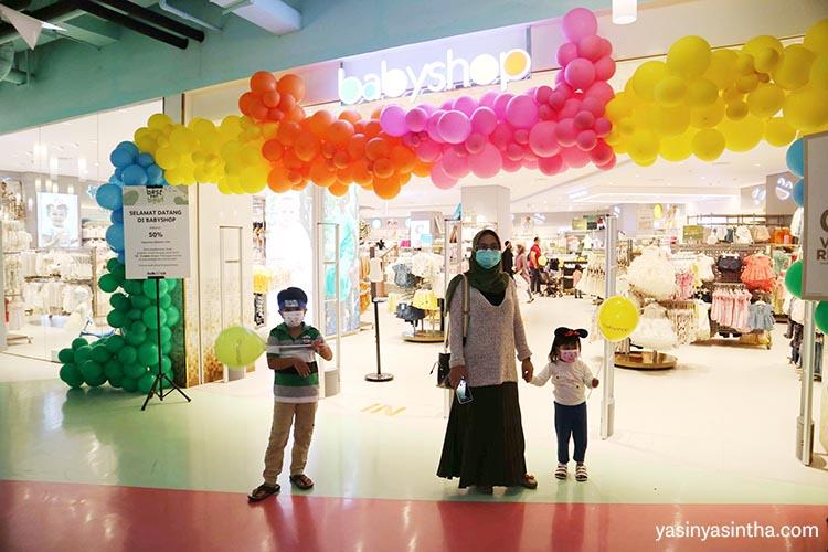 babyshop adalah toko perlengkapann bayi dan anak yang berada di paskal 23 bandung dan memiliki area yang sangat luas dan nyaman