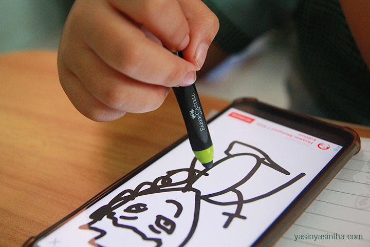 stylus pen untuk anak belajar dengan handphone