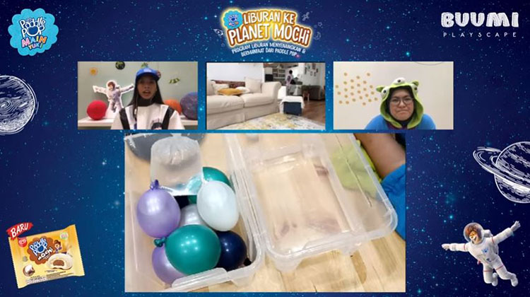 permainan untuk anak dari balon berisi air