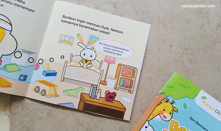 buku bunbun dari Mamas choice memiliki cerita ringan yang cocok untuk anak-anak
