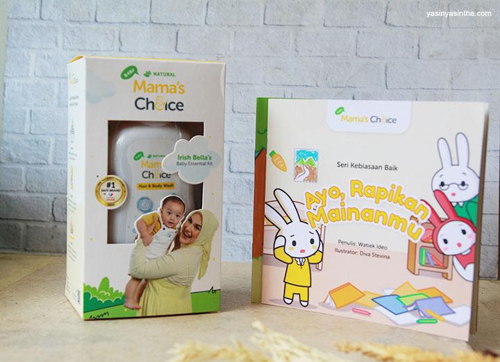 paket produk perawatan bayi dengan buku untuk bayi