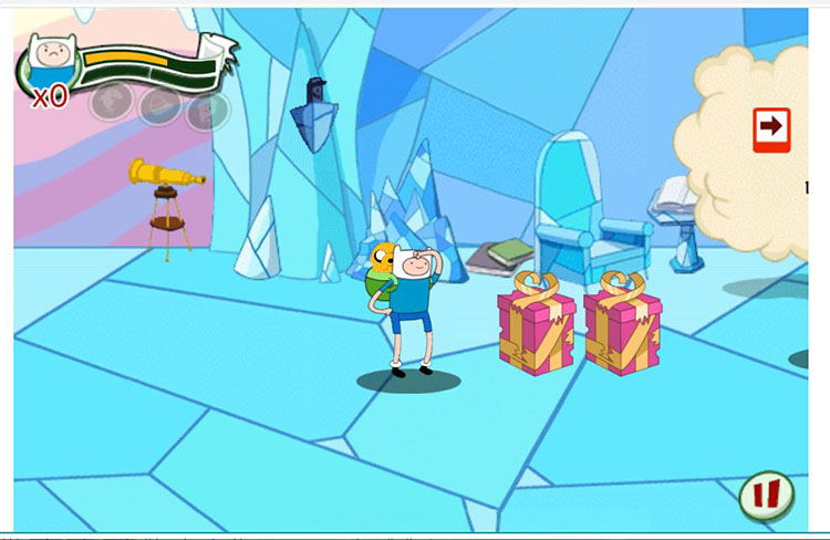 game petualangan dengan karakter adventure time